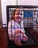 Wild child in cage